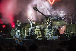 Sabaton (band) - Image: Hellfest 2017Sabaton 01