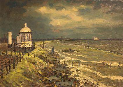 Painting, Low Light Maassluis