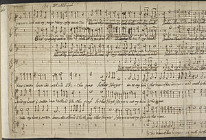 Henry Aldrich - A folio from Give ear, O Lord by Aldrich, written in his own hand.
