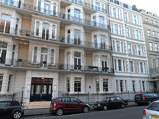De Vere Gardens street in Kensington, London, England