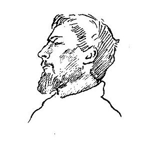 Henry Treffry Dunn - Detail from a pair of sketches by Rossetti