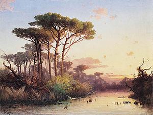 Henryk Cieszkowski - Image: Henryk Cieszkowski Pinie nad wodą
