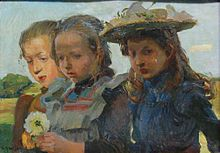 Hermann Groeber Children in Spring in Altenmarkt.jpg