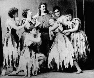 Parsifal - Hermann Winkelmann as Parsifal with Flowermaidens, 1882