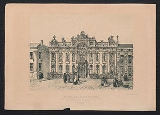 Het Koninklijk Paleis (vroeger Hôtel de Susteren), gebouwd in 1748 te Antwerpen