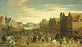 Het afdanken der waardgelders door prins Maurits op de Neude te Utrecht, 31 juli 1618 Rijksmuseum SK-A-155.jpeg