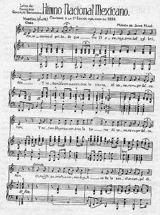 Himno Nacional Mexicano - Image: Himno mexicanos text