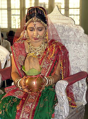 Hindu wedding - A Hindu bride during her wedding.