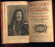 Histoire des Révolutions de Hongrie, La Haye, chez Jean Neaulme, 1739