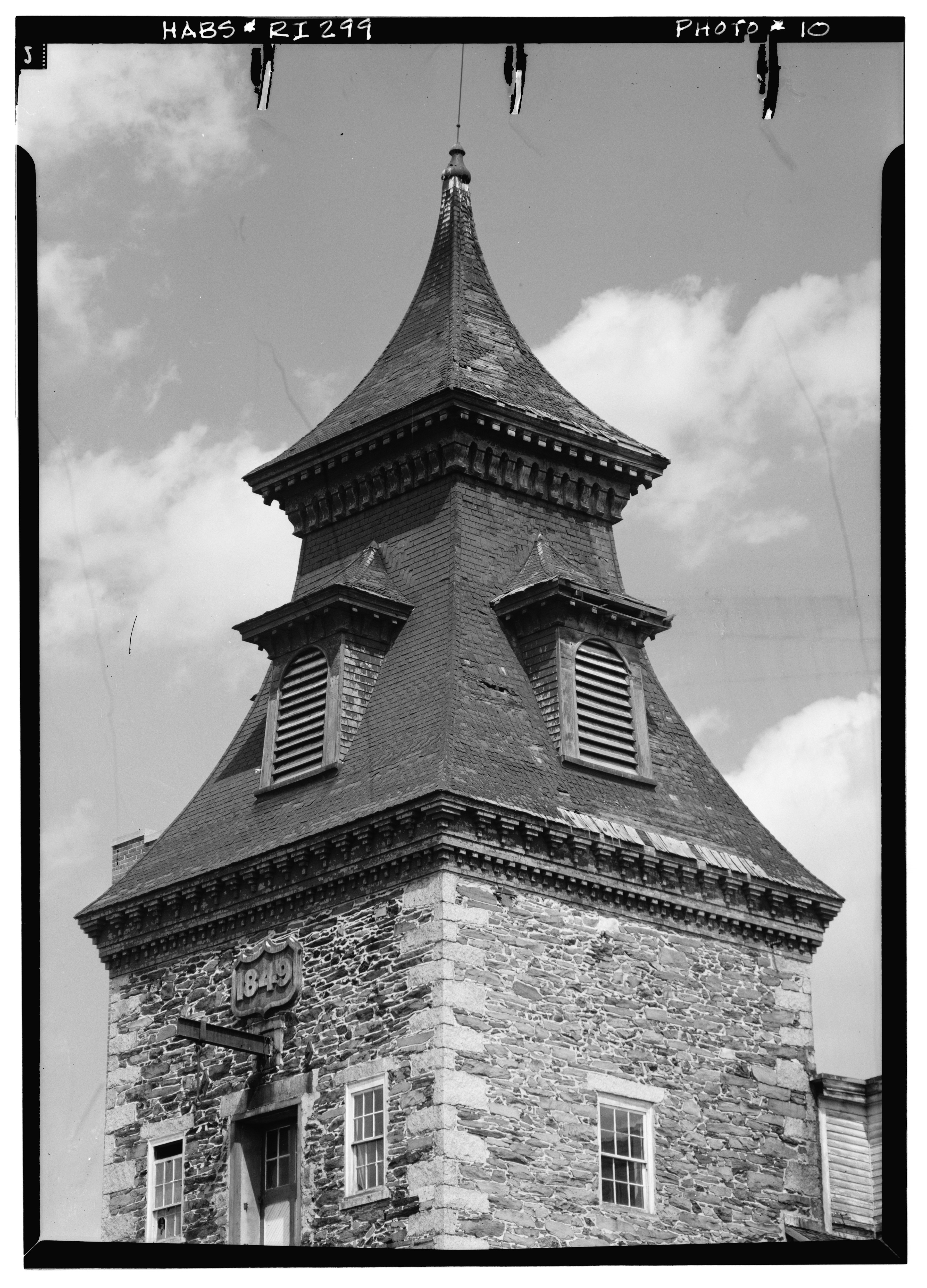 Staircase Tower Elevation : File historic american buildings survey may main
