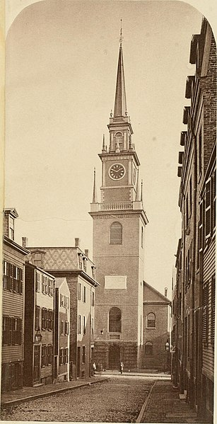 File:History of Paul Revere's signal lanterns, April 18, 1775, in the steeple of the North Church- with an account of the tablet on Christ Church and the monuments at Highland Park and Dorchester Heights (14777037692).jpg