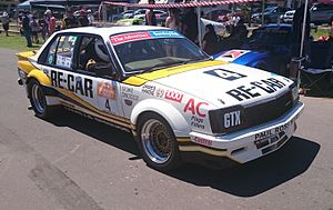 1981 James Hardie 1000 - Alan Browne and Tony Edmondson placed fifth in a Holden VC Commodore (image from 2015)
