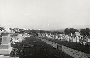 Holy Cross Cemetery (Colma, California) - Holy Cross Cemetery shortly after the 1906 San Francisco earthquake