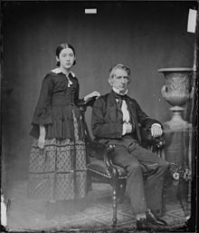 Hon. William H. Seward, N.Y. Secretary of State, and daughter - NARA - 528357.jpg