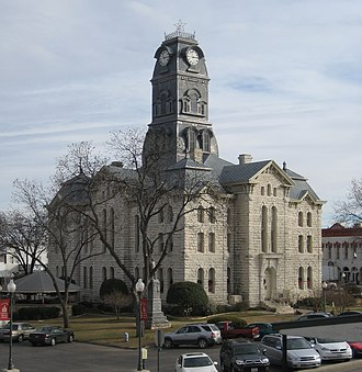 Fannin County Courthouse (Texas) - For comparison Hood County Courthouse in 2008