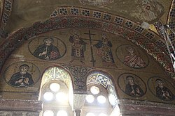 Hosios Loukas (narthex) - West wall, left 02.jpg