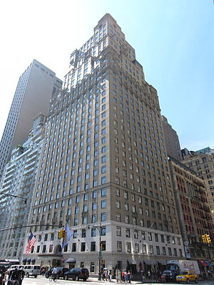 Hotel St. Moritz - The former Hotel St. Moritz building, today Ritz-Carlton New York, Central Park, seen in 2010