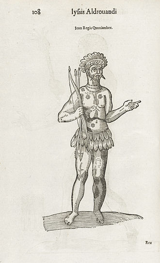 Cunhambebe - 1642 depiction from a book by Ulisse Aldrovandi