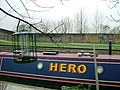 Houseboat on the Grand Union Canal, W10 - geograph.org.uk - 677261.jpg