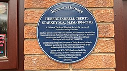 Hubert starkey plaque