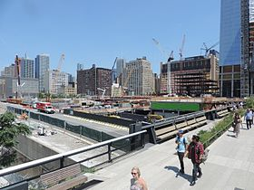 Hudson Yards from 30 St hiline 2015 July uncut jeh.jpg