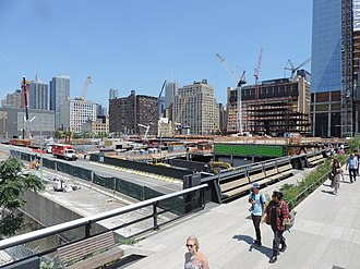 Hudson Yards, Manhattan - Image: Hudson Yards from 30 St hiline 2015 July uncut jeh