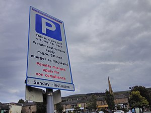 Hundredweight - Image: Hundredweight cwt weight restriction road sign Ilkley