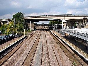 Huntingdon railway station - Image: Huntingdon Railway Station geograph.org.uk 993046