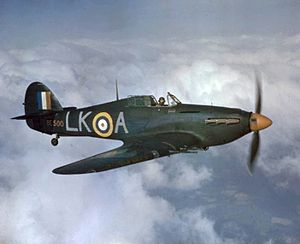 No. 87 Squadron RAF - No. 87 CO Sqn Ldr Dennis Smallwood, DFC, in his Hurricane IIC, in early 1942.