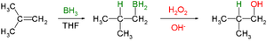 Hydroboration–oxidation reaction - Image: Hydroboration oxidation reaction