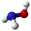 Spacefill model of hydroxylamine