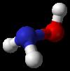 Spacefill-modelo de hidroksilamino