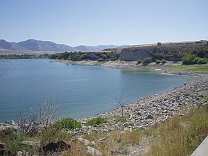 Hyrum State Park - Hyrum Reservoir viewed from over the dam