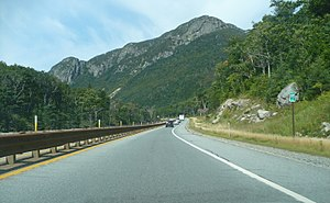 Super two - I-93 in Franconia Notch, New Hampshire, as a super two roadbed