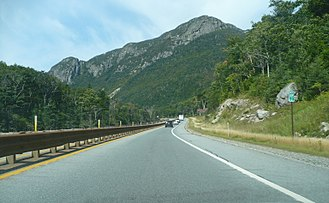 Interstate Highway standards - Interstate 93 super two through Franconia Notch, New Hampshire
