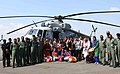 IAF MI-17 V5 crew members along with the happy and relieved medical students who are all smiles after landing at Air Force Station, in Srinagar on September 13, 2014.jpg