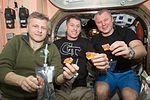 ISS-50 Andrei Borisenko, Shane Kimbrough and Oleg Novitskiy in the Unity node.jpg
