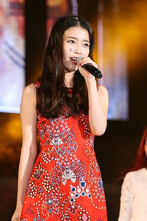 IU (singer) - IU performing at Expo Pop Festival on July 3, 2012.