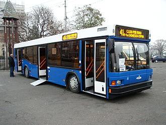 Motor bus - A modern, low-floor motor bus.