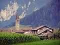 Il campanile di San Zeno dai campi (Fiavè).JPG