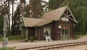 Røros Line - The original Ilseng Station is on display at the Norwegian Railway Museum in Hamar