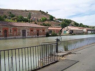 Canal de Castilla - Canal of Castile in Valladolid.