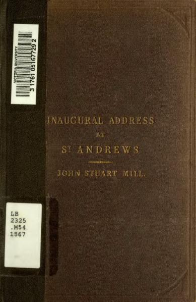 File:Inaugural address delivered to the University of St. Andrews, Feb. 1st 1867.djvu