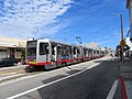 Inbound train at Taraval and 32nd Avenue, September 2018.JPG