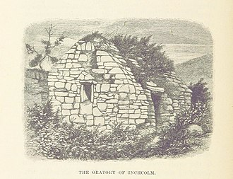 Inchcolm - Sketch of the oratory.