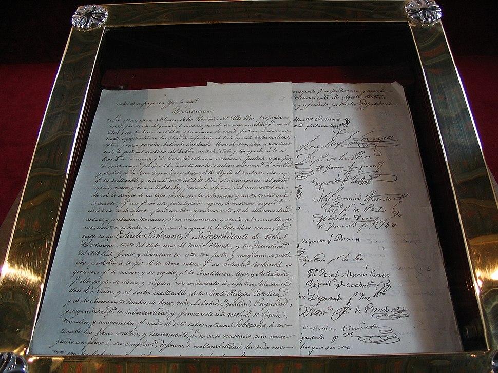 Independence treaty of Bolivia