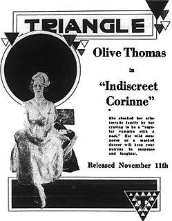 <i>Indiscreet Corinne</i> 1917 silent film