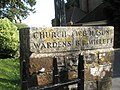 Inscription on the churchyard gate at Old Bedhampton - geograph.org.uk - 1236406.jpg