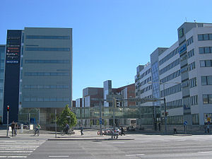Turku Science Park - Some office buildings. From left to right: Intelligate 1, ICT-building and Euro City.
