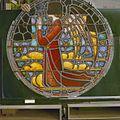 Interieur. Detail glas-in-loodraam van Toorop bij glasatelier Wiegen - Nijmegen - 20337441 - RCE.jpg